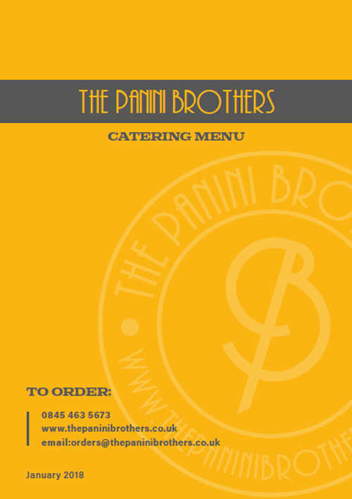 The Panini Brothers - Catering Menu