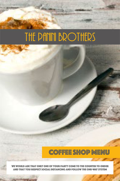 The Panini Brothers - Coffee Shop Menu