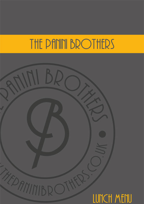 The Panini Brothers - Store Menu
